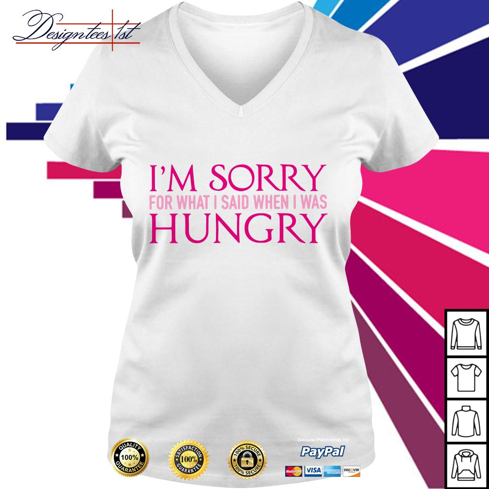 I'm sorry for what I said when I was hungry V-neck T-shirt