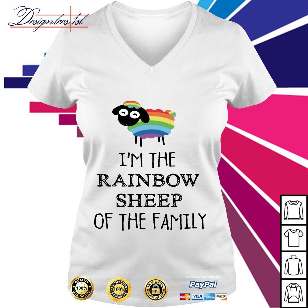LGBT I'm the rainbow sheep of the family V-neck T-shirt
