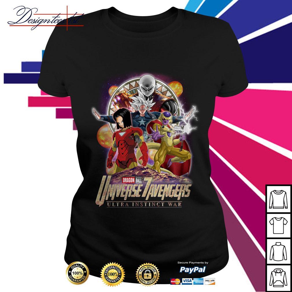 Marvel Dragon Ball 7 Universe Avengers ultra instinct war Ladies Tee