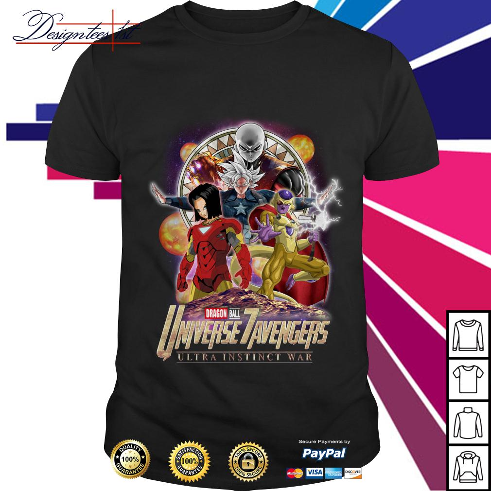 Marvel Dragon Ball 7 Universe Avengers ultra instinct war shirt