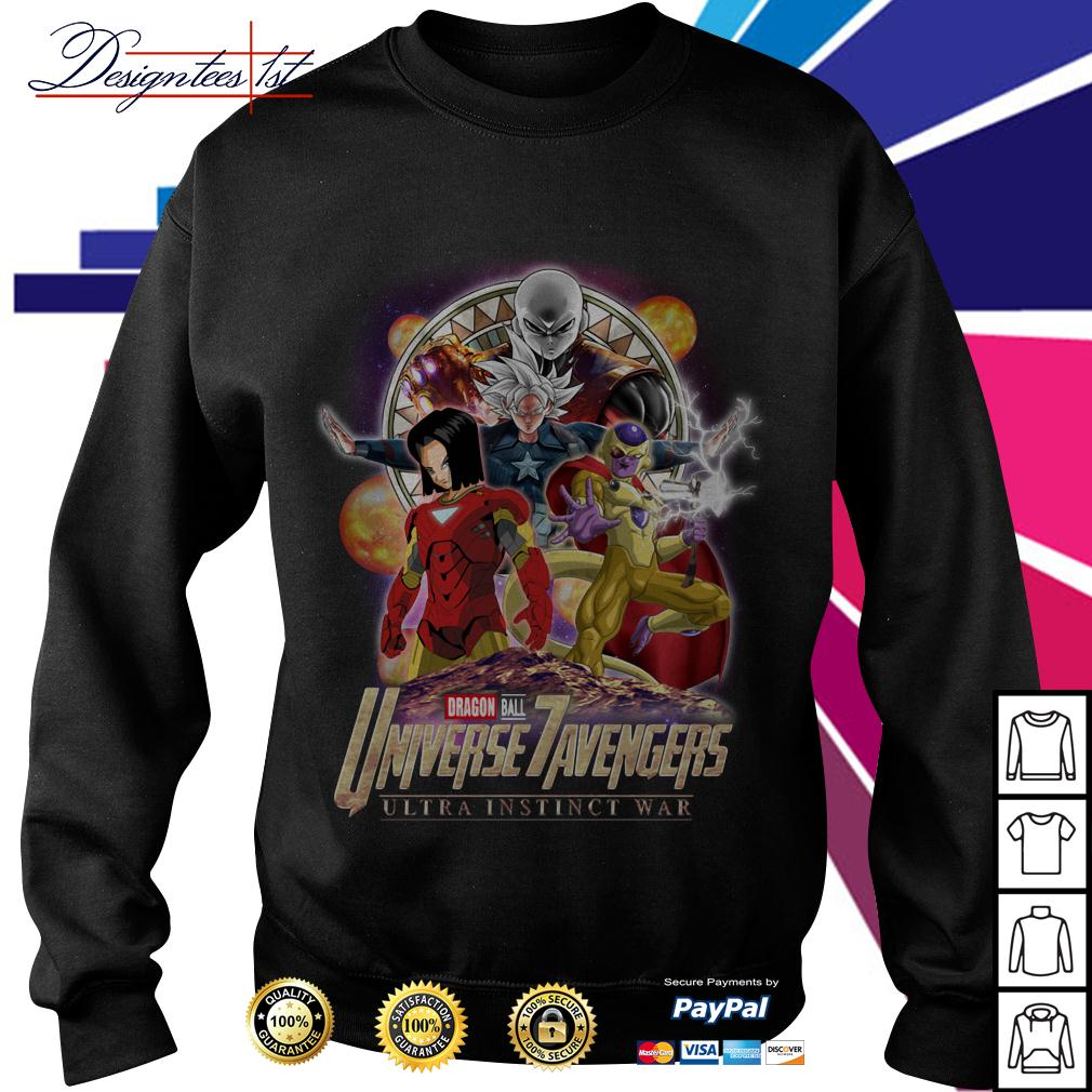 Marvel Dragon Ball 7 Universe Avengers ultra instinct war Sweater