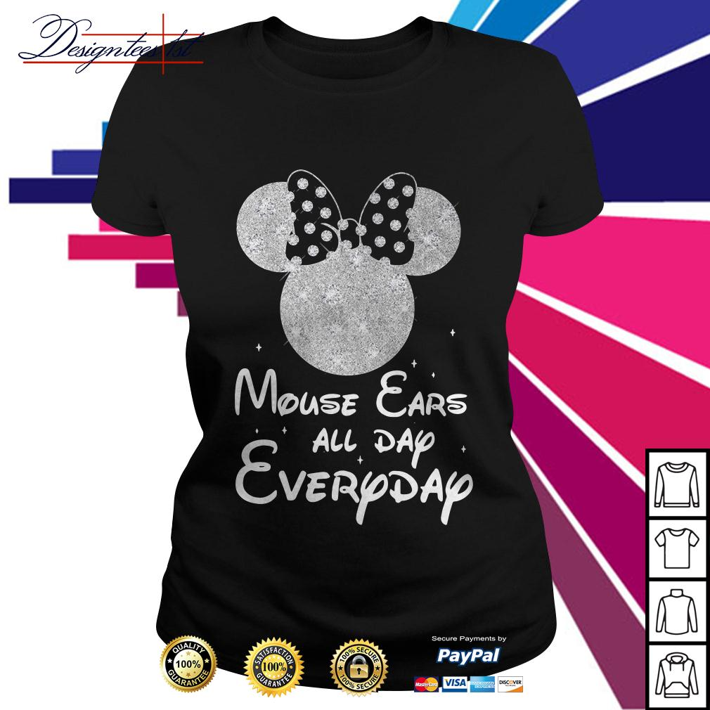 Minnie mouse ears all day everyday Ladies Tee