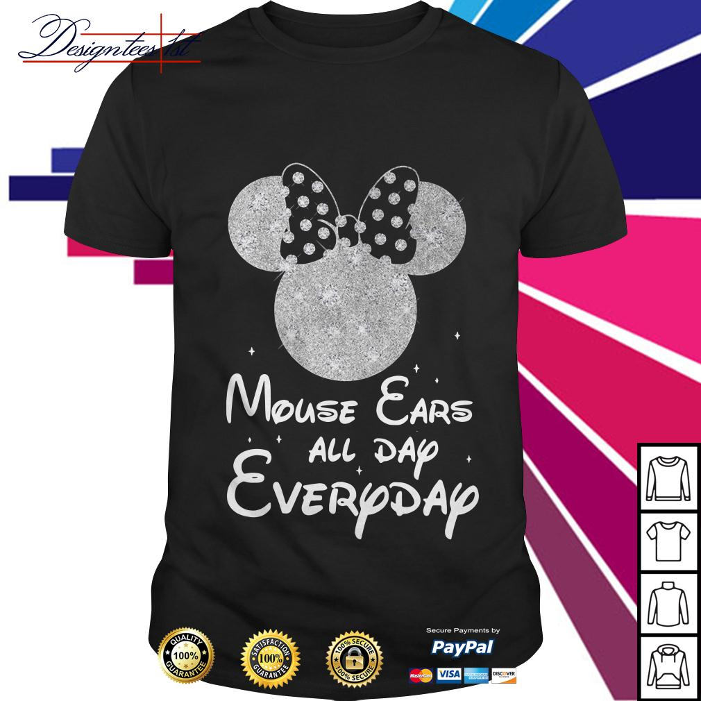 Minnie mouse ears all day everyday shirt