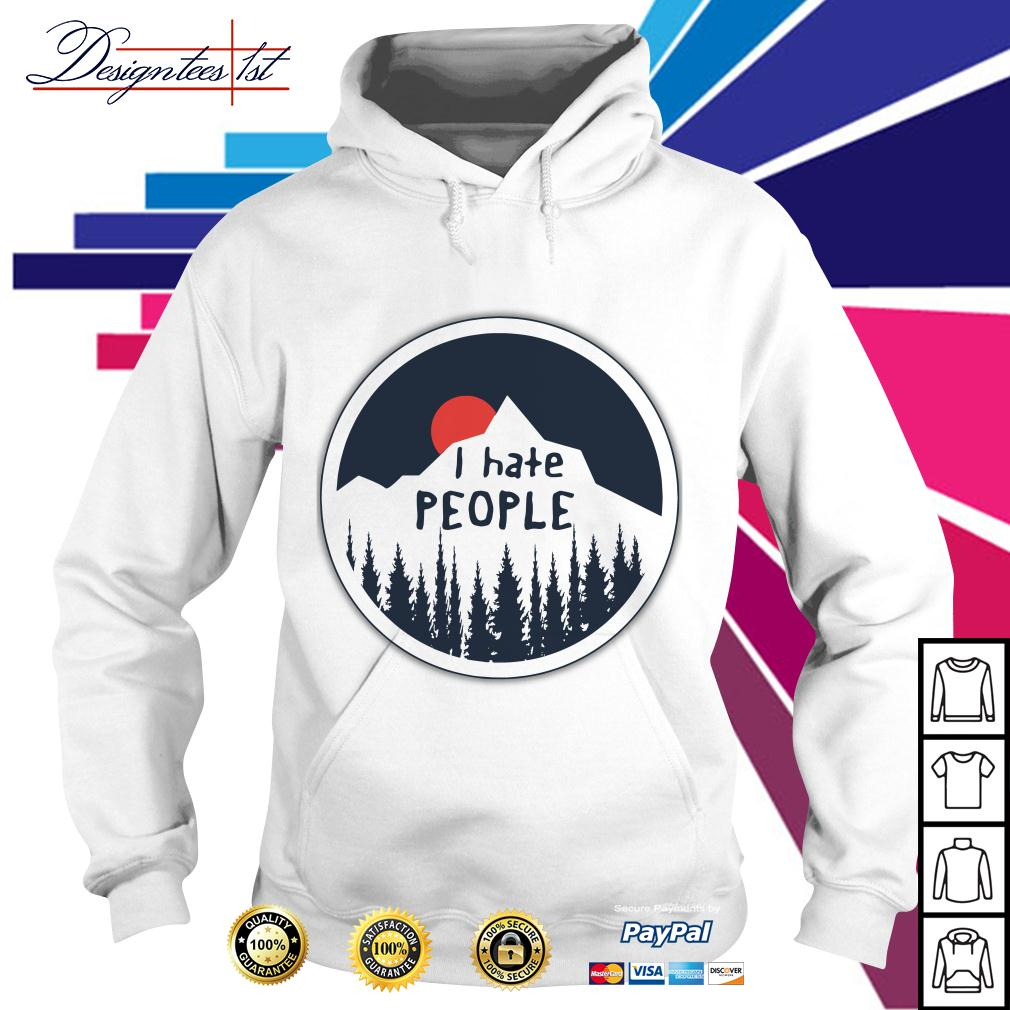 Mountain sunset I hate people Hoodie