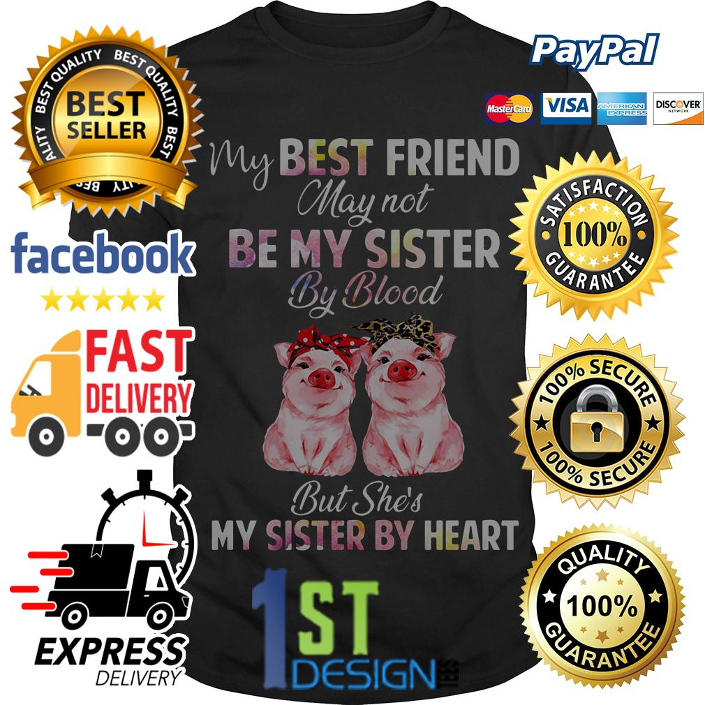 Pig my best friend may not be my sister by blood but she's my sister shirt