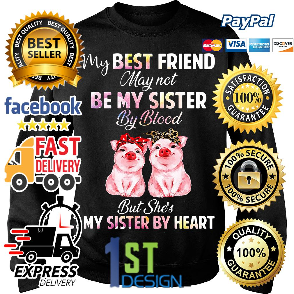 Pig my best friend may not be my sister by blood but she's my sister Sweater