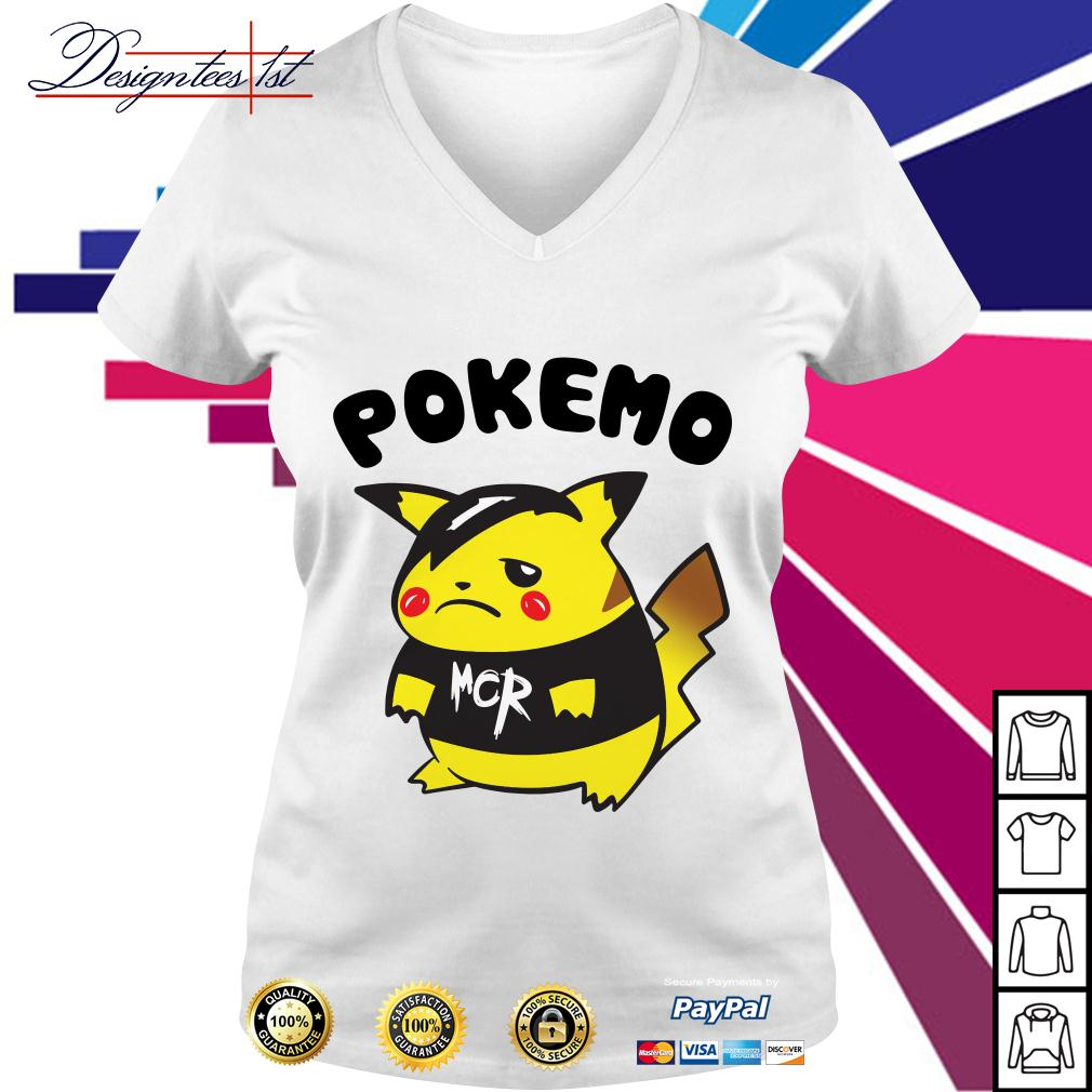Pikachu Pokemon Pokemo MCR V-neck T-shirt