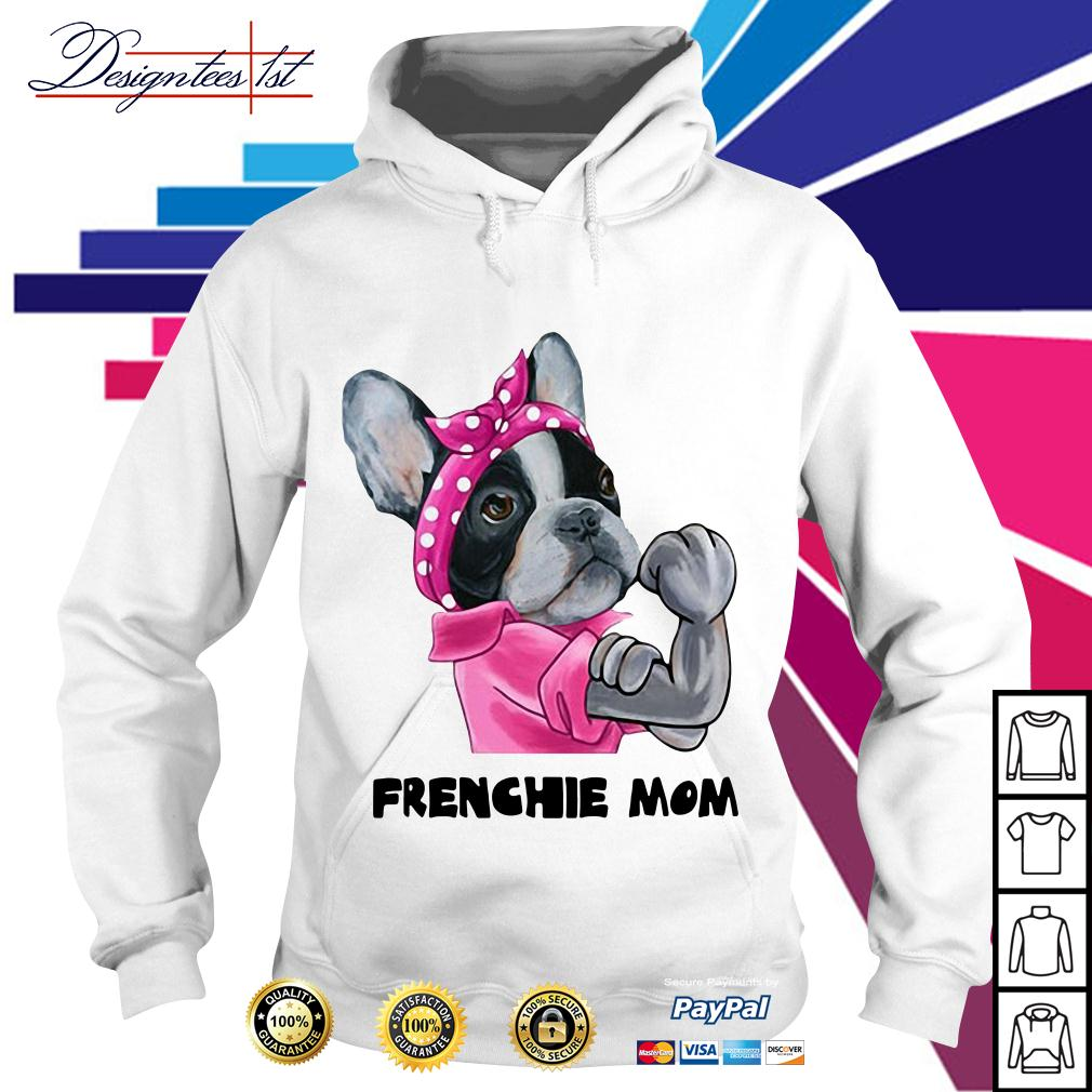 Pink bandana Frenchie mom strong Hoodie