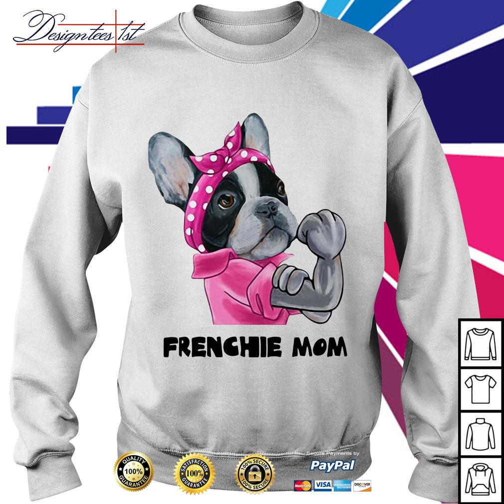 Pink bandana Frenchie mom strong Sweater