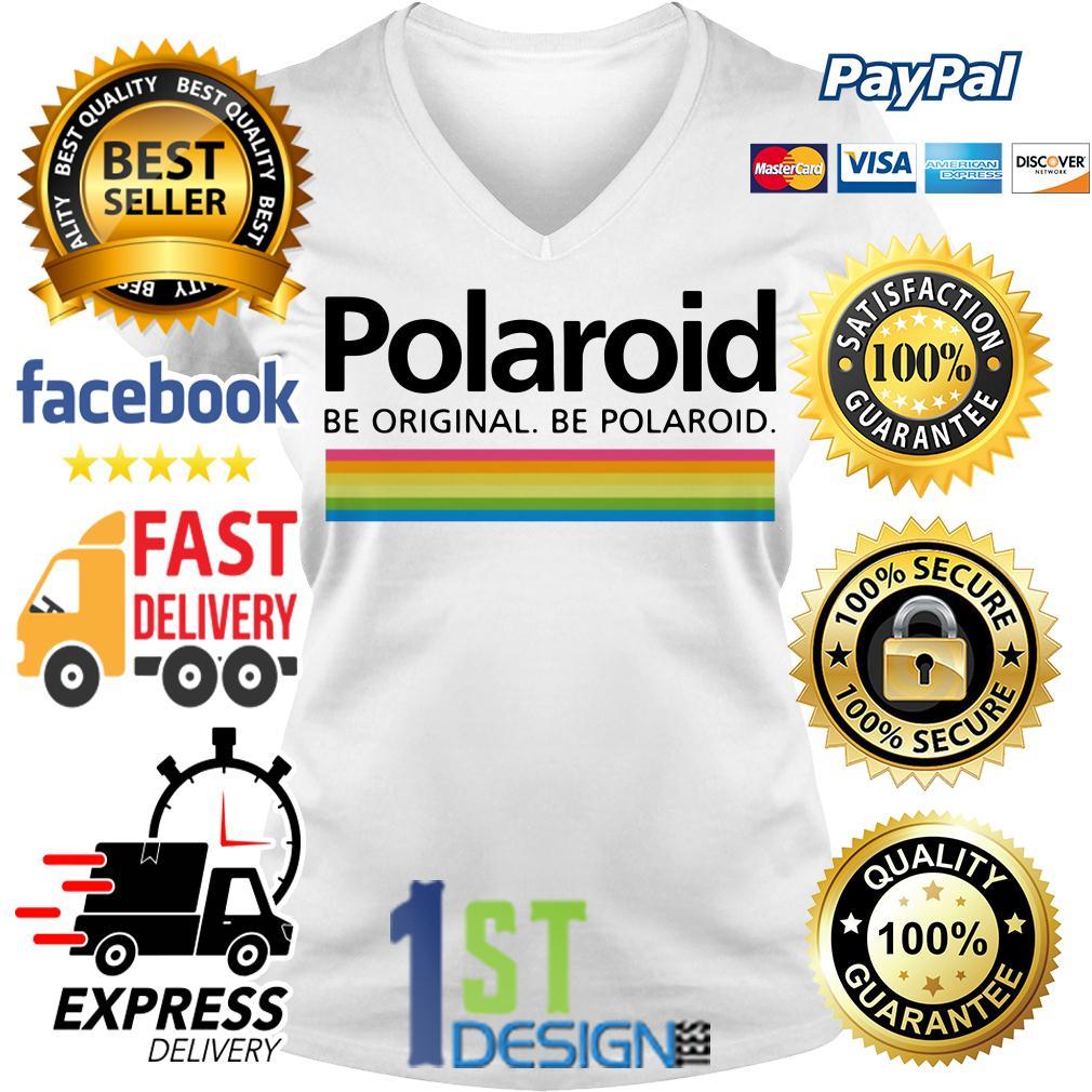Polaroid be original be polaroid V-neck T-shirt