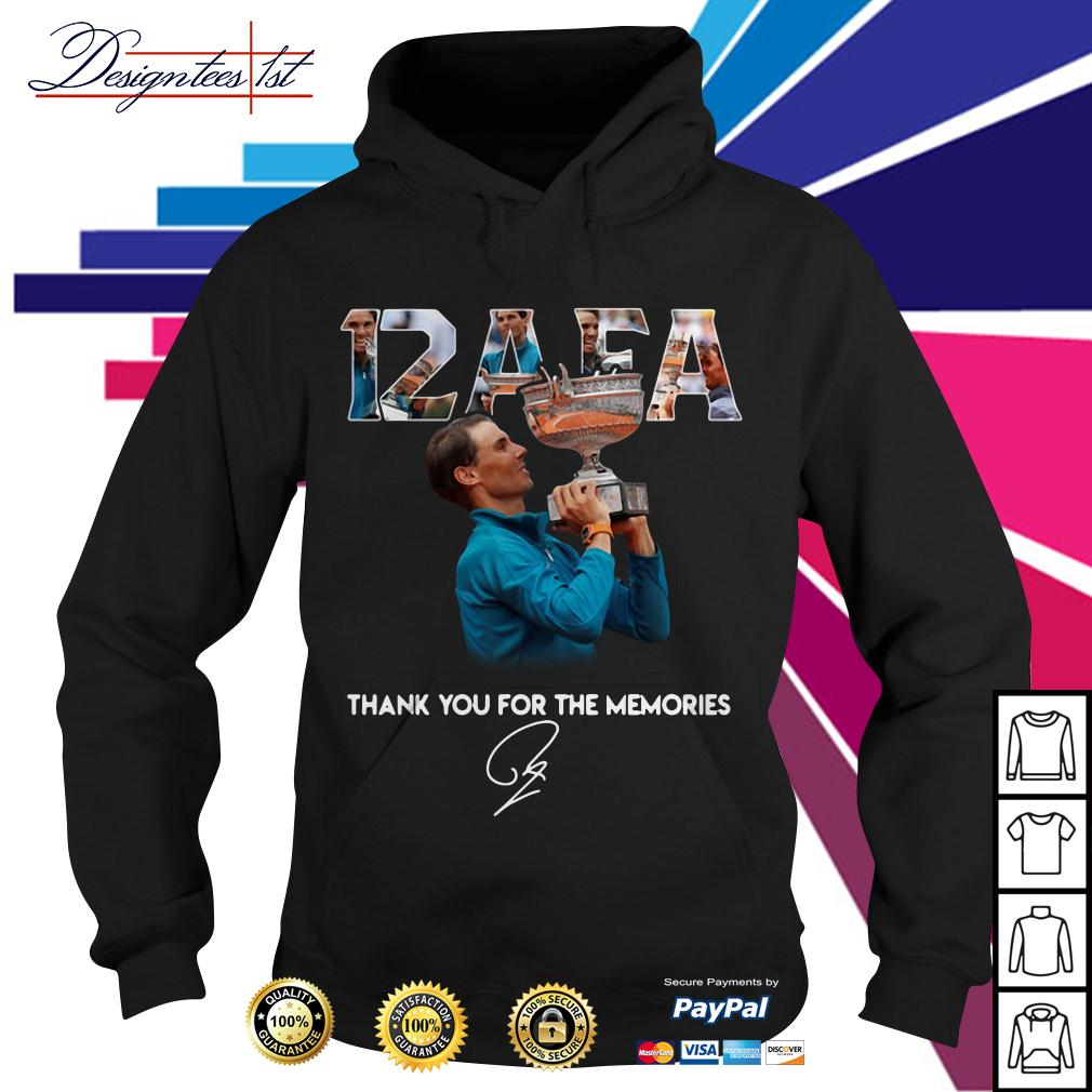 Roland Garros 12 AFA Rafael Nadal thank you for the memories signature Hoodie