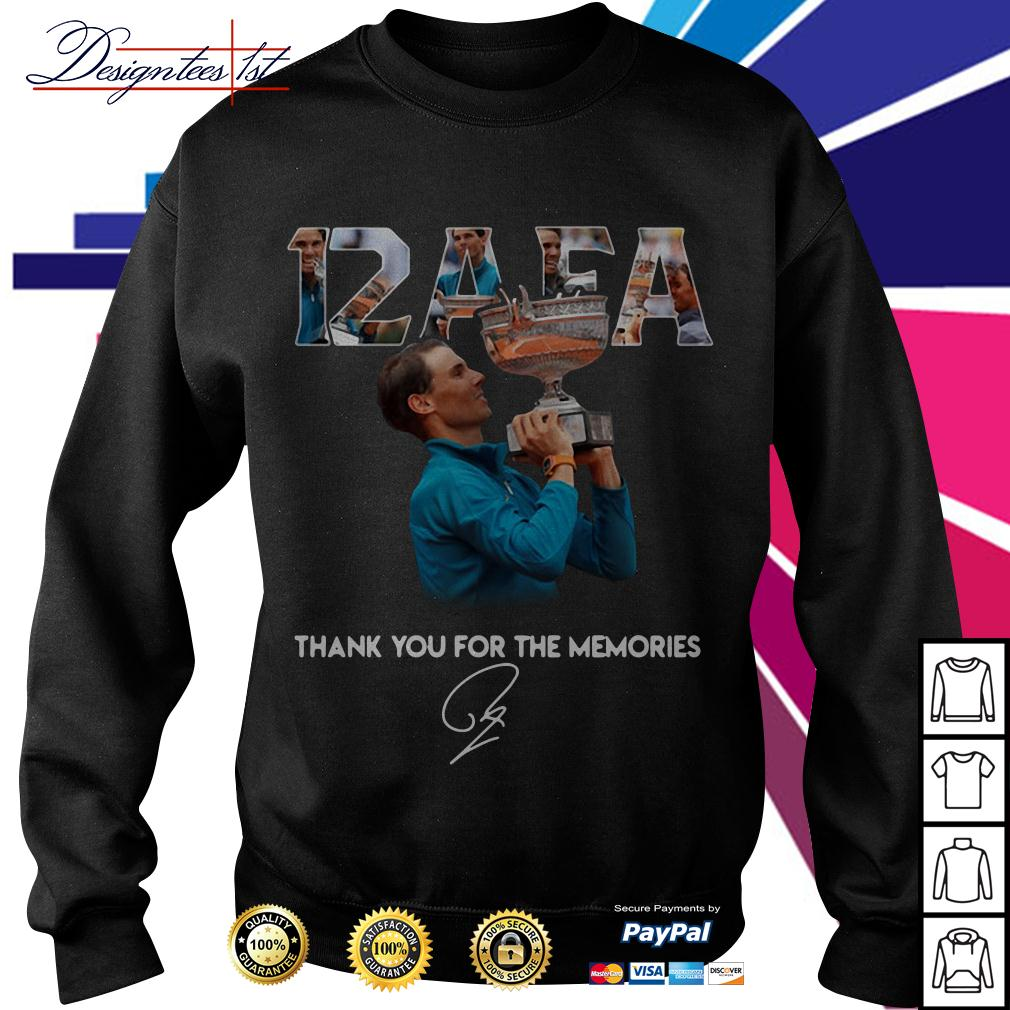 Roland Garros 12 AFA Rafael Nadal thank you for the memories signature Sweater