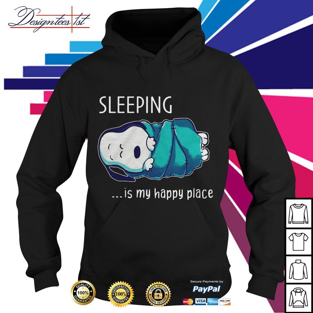 Snoopy sleeping is my happy place Hoodie