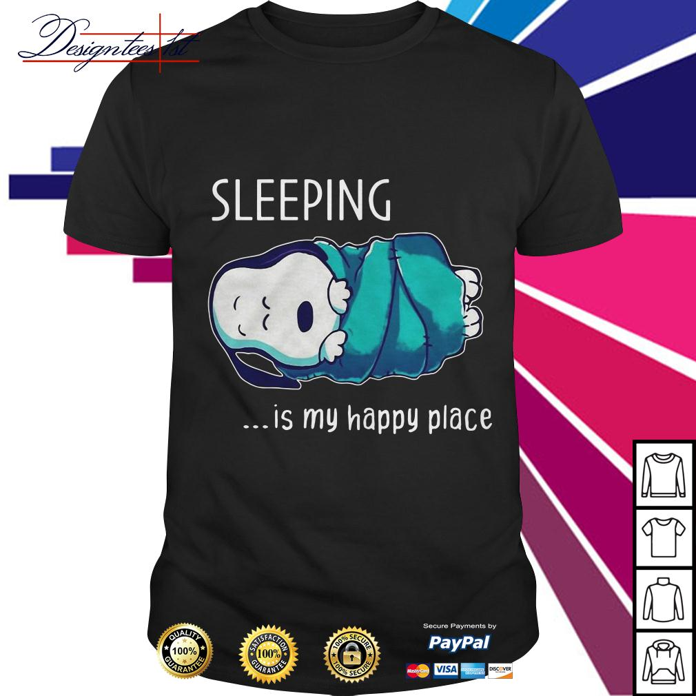 Snoopy sleeping is my happy place shirt