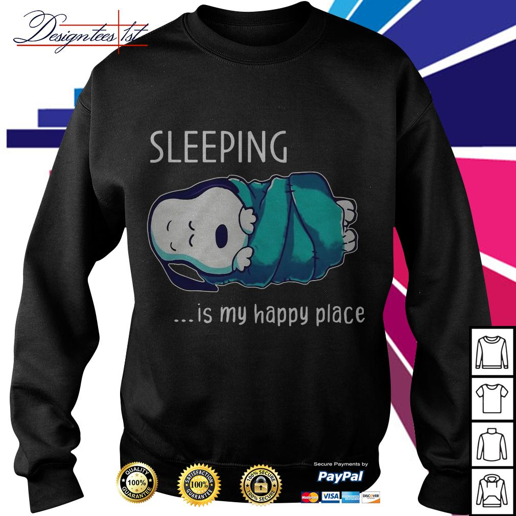 Snoopy sleeping is my happy place Sweater