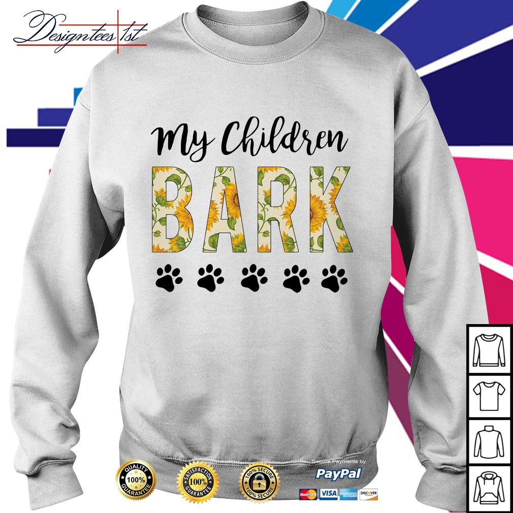 Sunflower my children bark paw dog Sweater