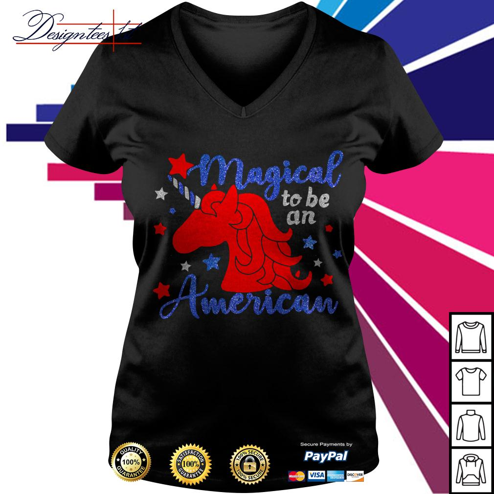 Unicorn magical to be an American V-neck T-shirt