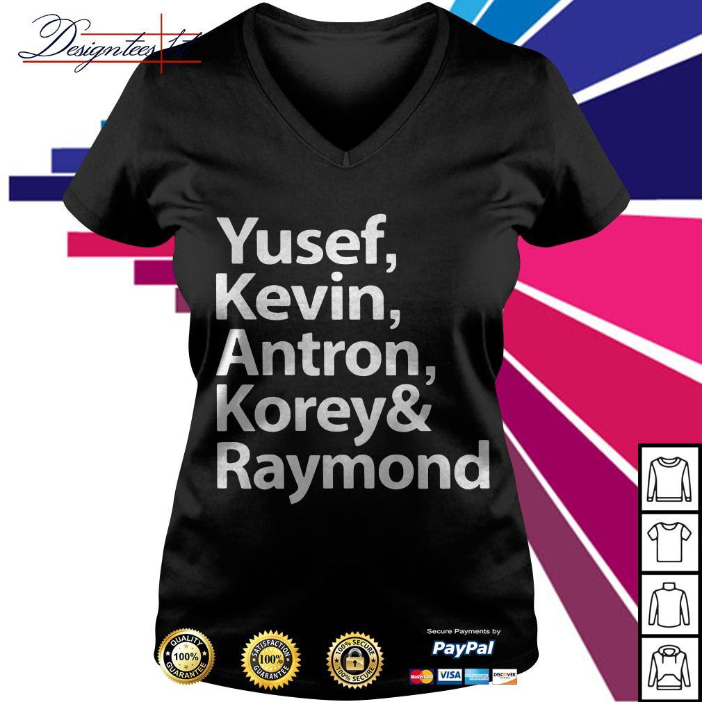 Yusef Kevin Antron Korey and Raymond V-neck T-shirt