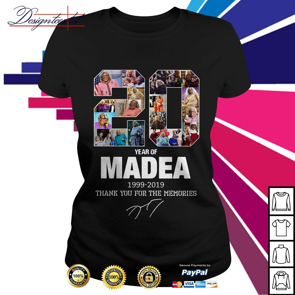 20 year of Madea 1999-2019 thank you for the memories Ladies Tee