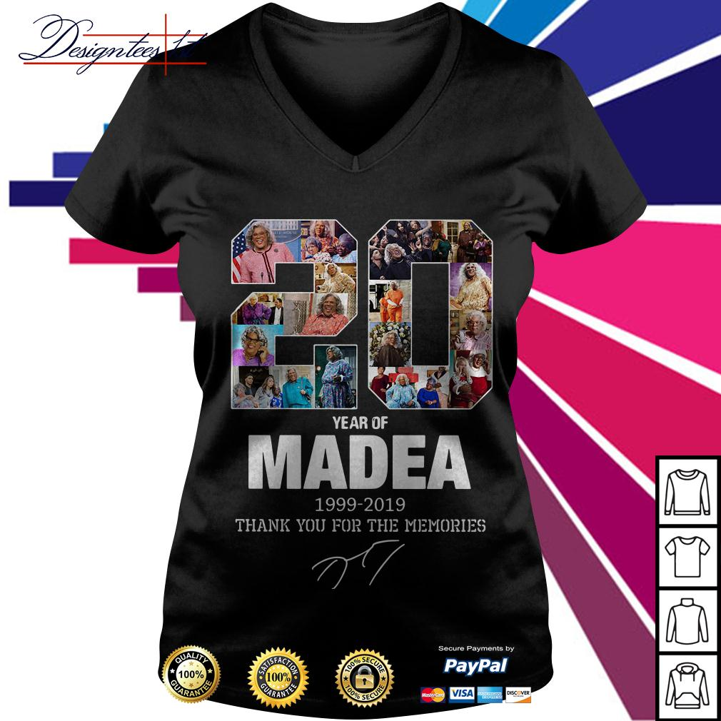 20 year of Madea 1999-2019 thank you for the memories V-neck T-shirt