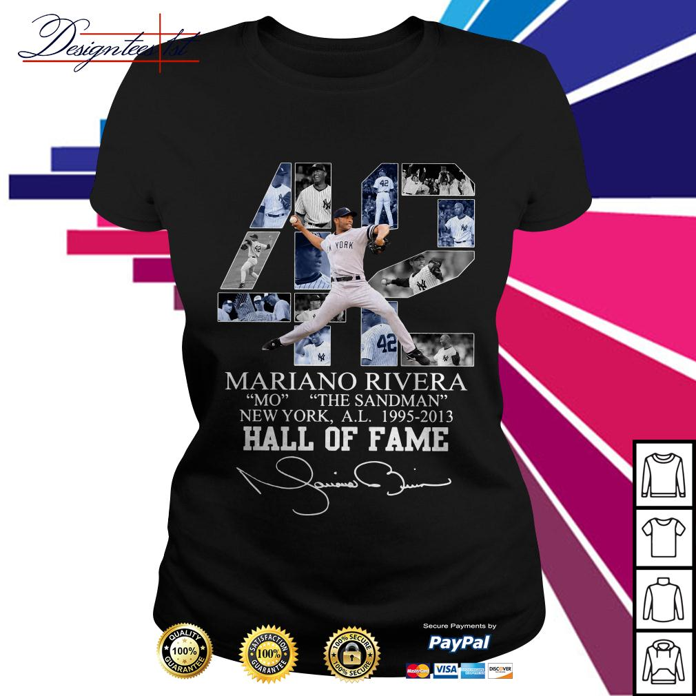 42 Mariano Rivera Mo The Sandman New York 1995-2013 hall of fame Ladies Tee