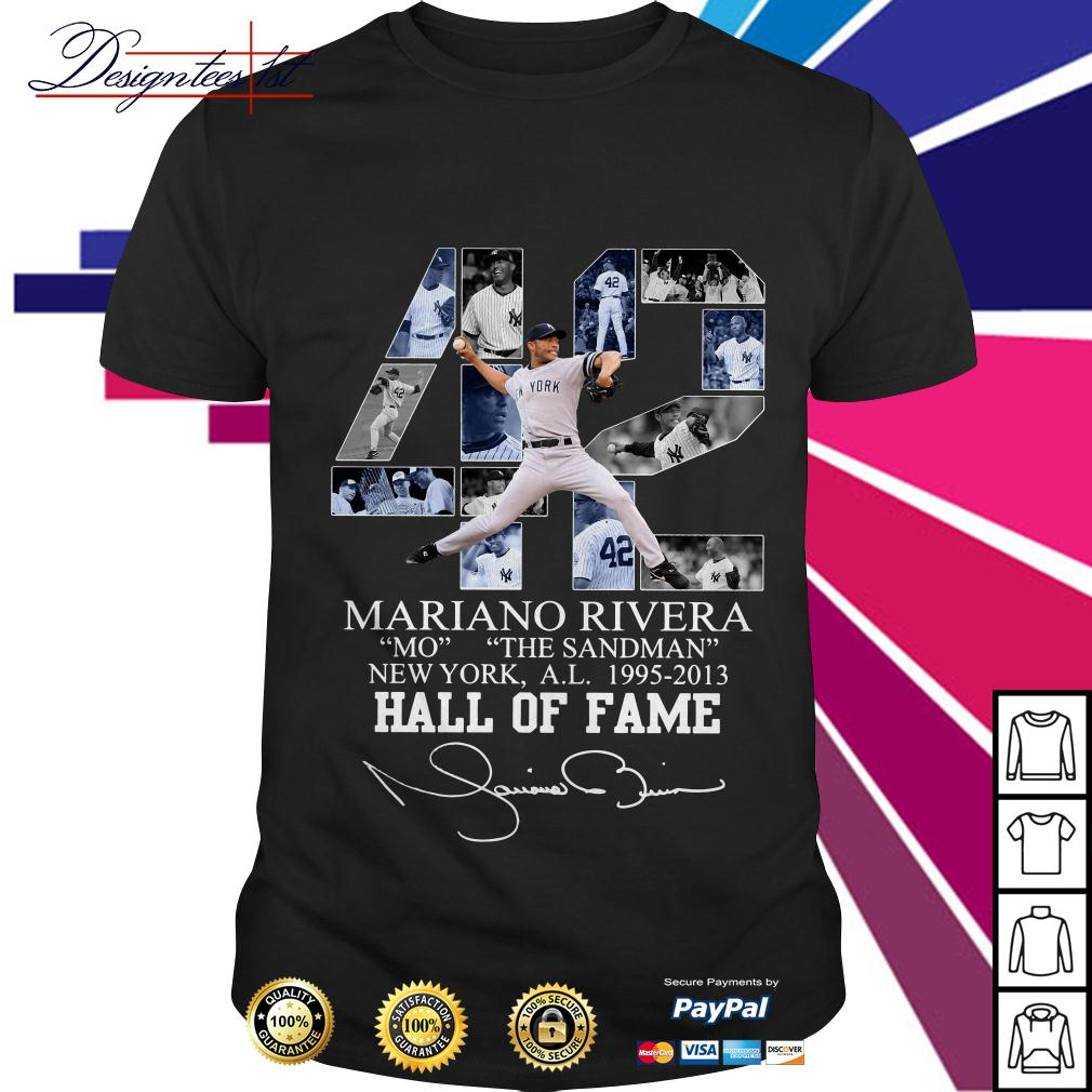 42 Mariano Rivera Mo The Sandman New York 1995-2013 hall of fame shirt
