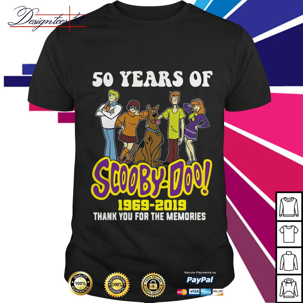 50 years of Scooby-Doo 1969-2019 thank you for the memories shirt