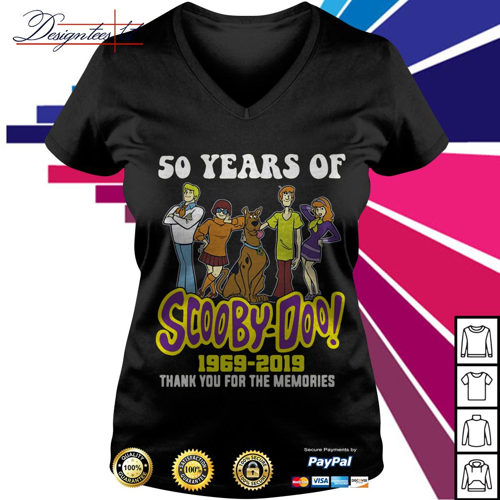 50 years of Scooby-Doo 1969-2019 thank you for the memories V-neck T-shirt