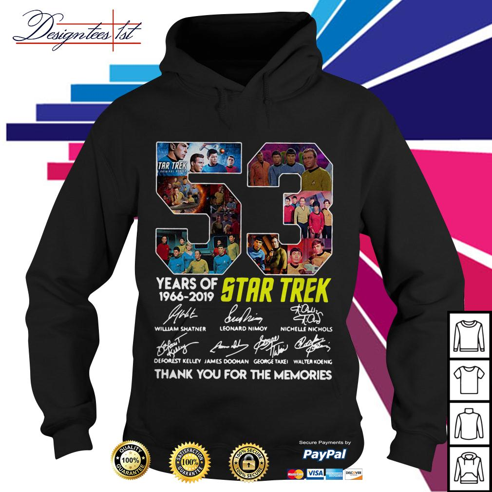 53 Years of Star Trek 1966-2019 thank you for the memories signatures Hoodie