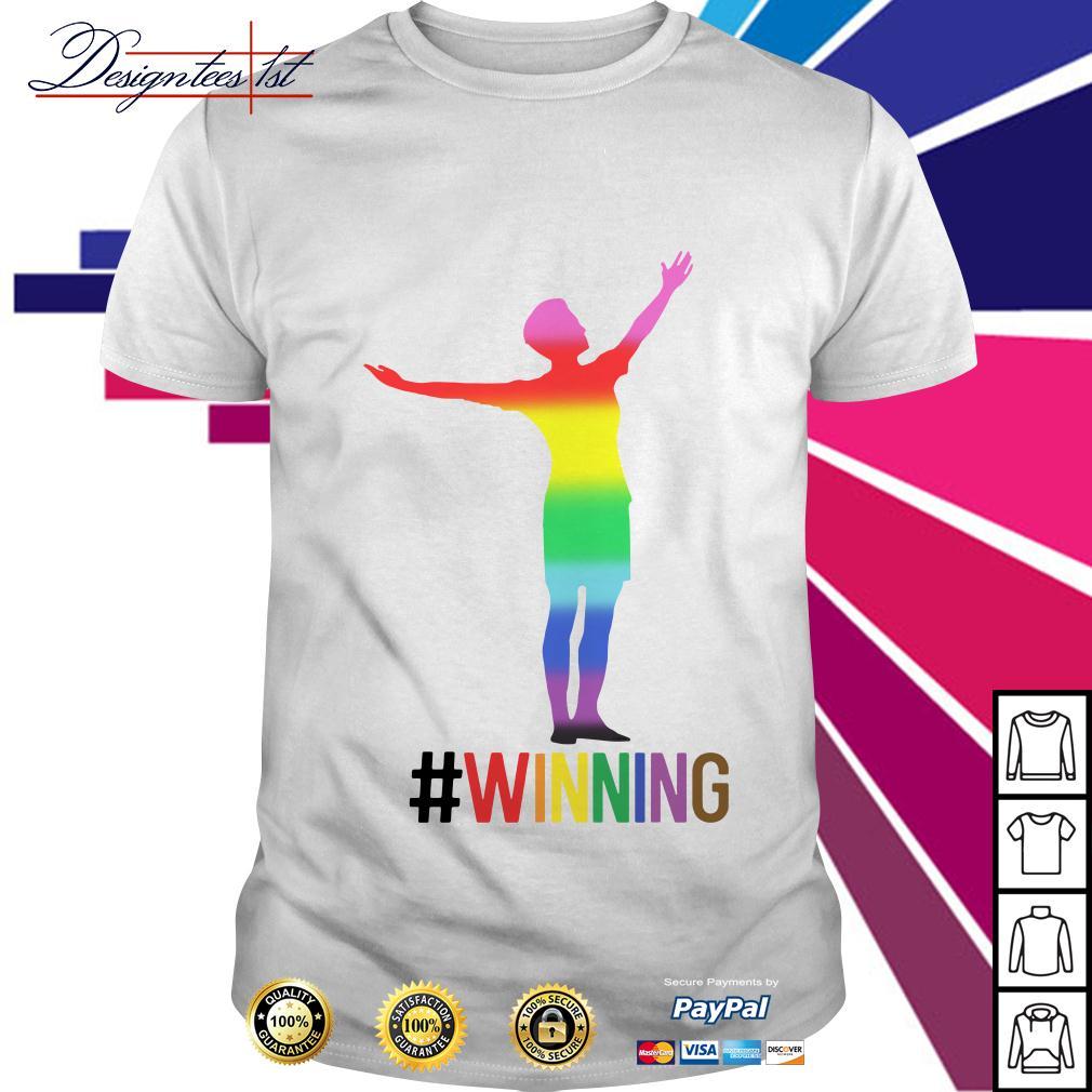 Alex Morgan winning LGBT shirt