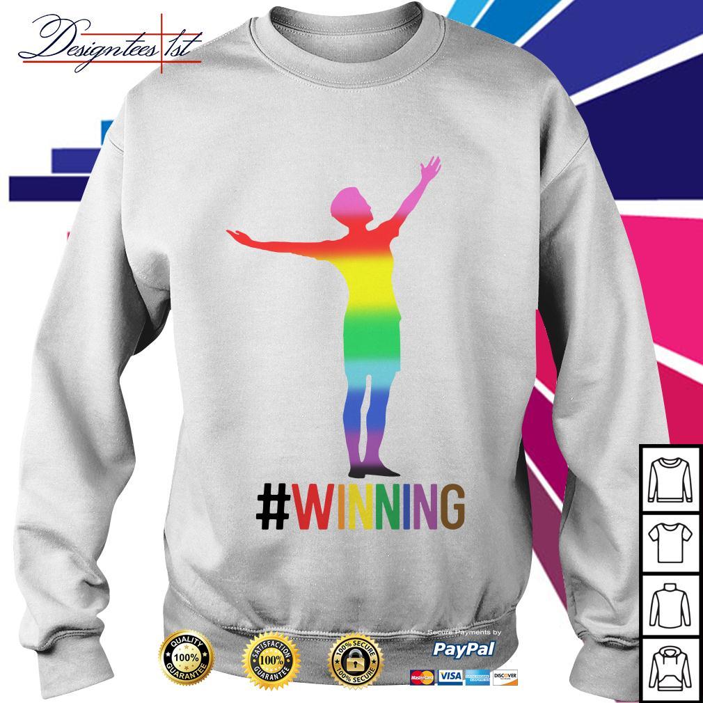 Alex Morgan winning LGBT Sweater