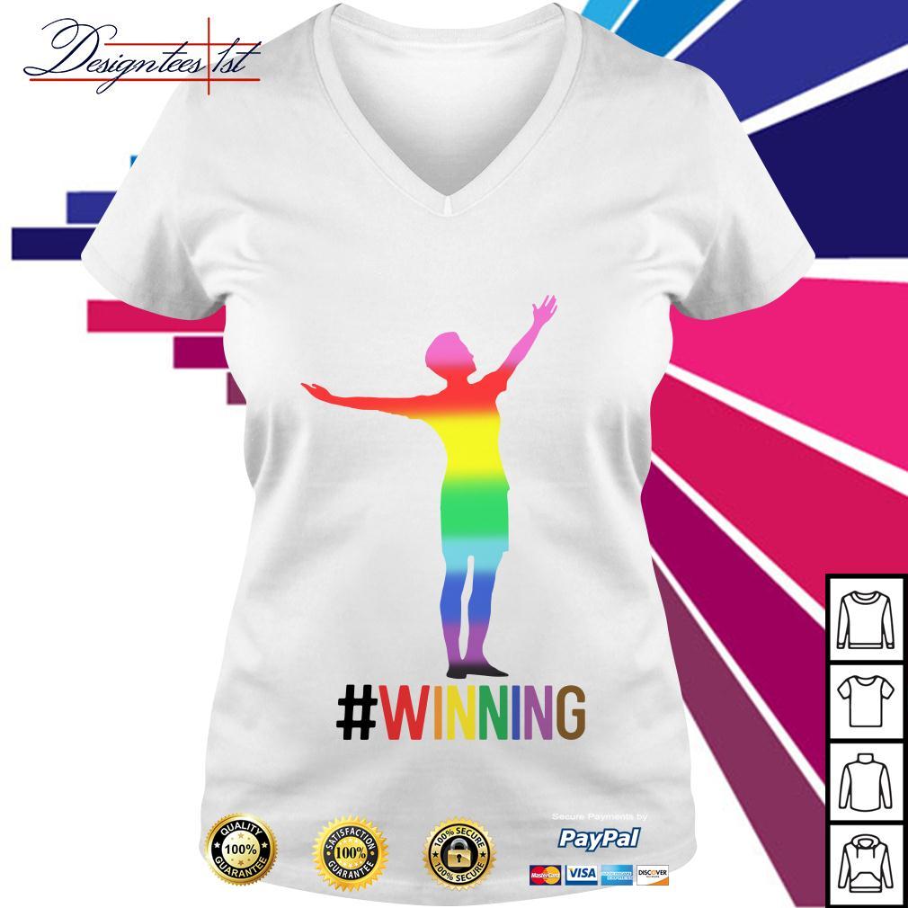 Alex Morgan winning LGBT V-neck T-shirt