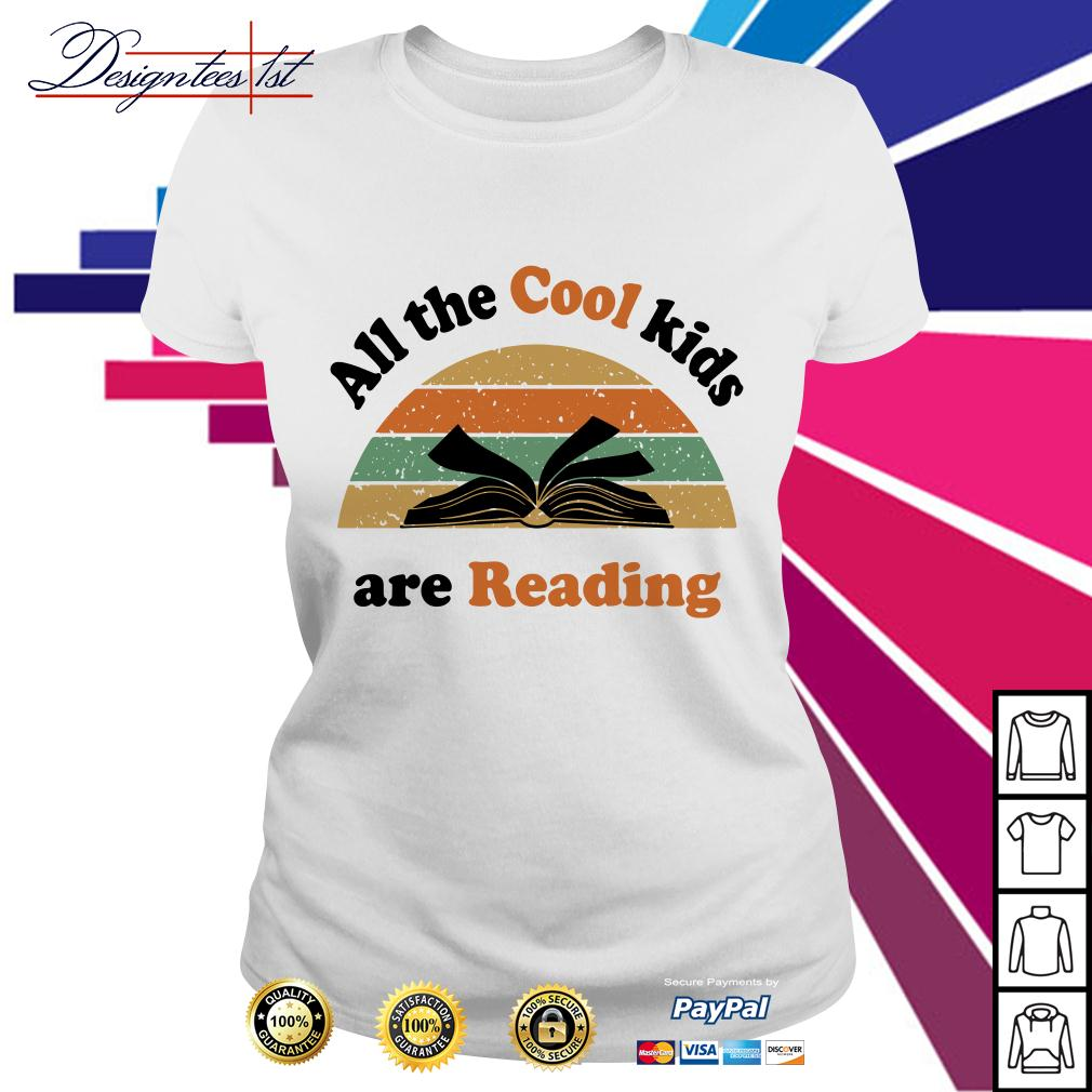 All the cool kids are reading vintage Ladies Tee