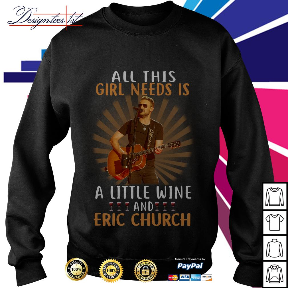 All this girl needs is a little wine and Eric Church Sweater