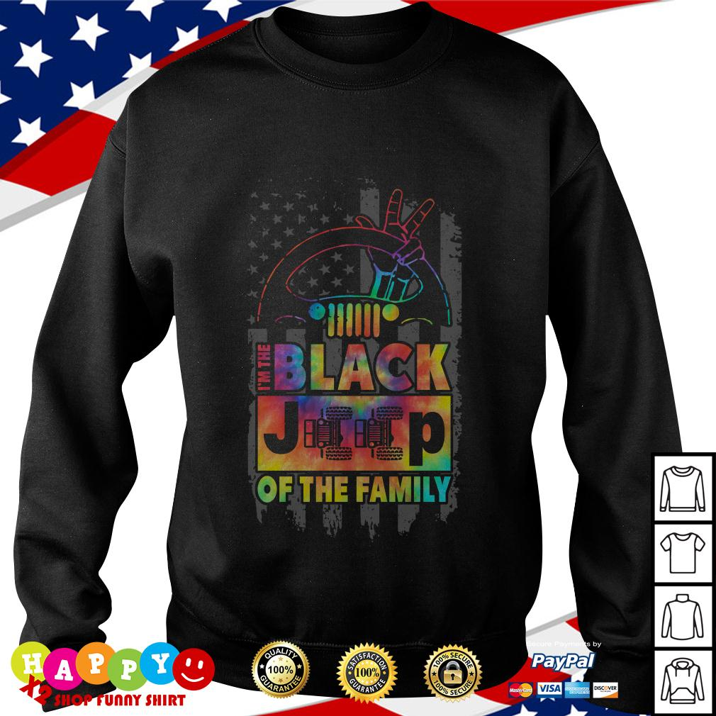 America Flag I'm the black jeep of the family Sweater