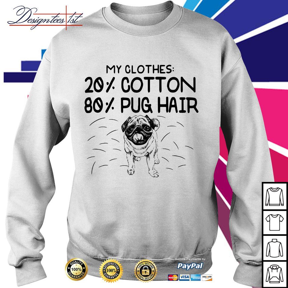 Bulldog my clothes 20% cotton 80% pug hair Sweater