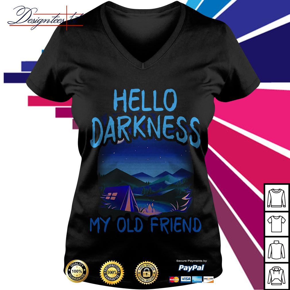 Camping Hello darkness my old friend V-neck T-shirt