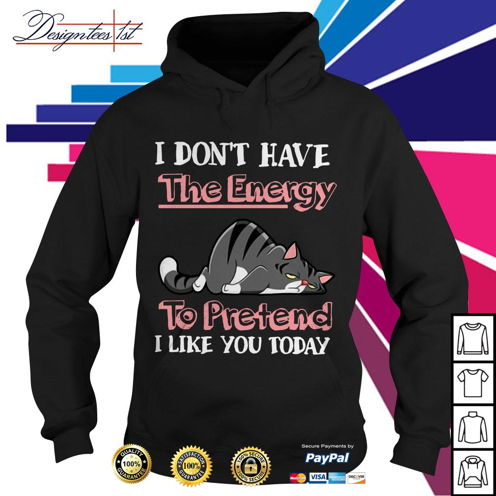 Cat I don't have the energy to pretend I like you today Hoodie