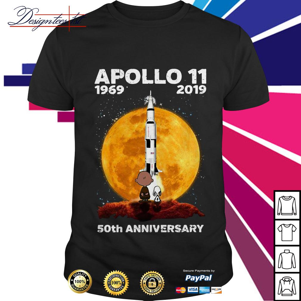 Charlie Brown and Snoopy Apollo 11 1969-2019 moon anniversary shirt