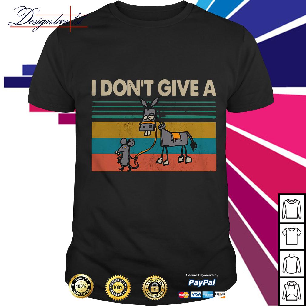 I don't give a rats ass Donkey vintage shirt