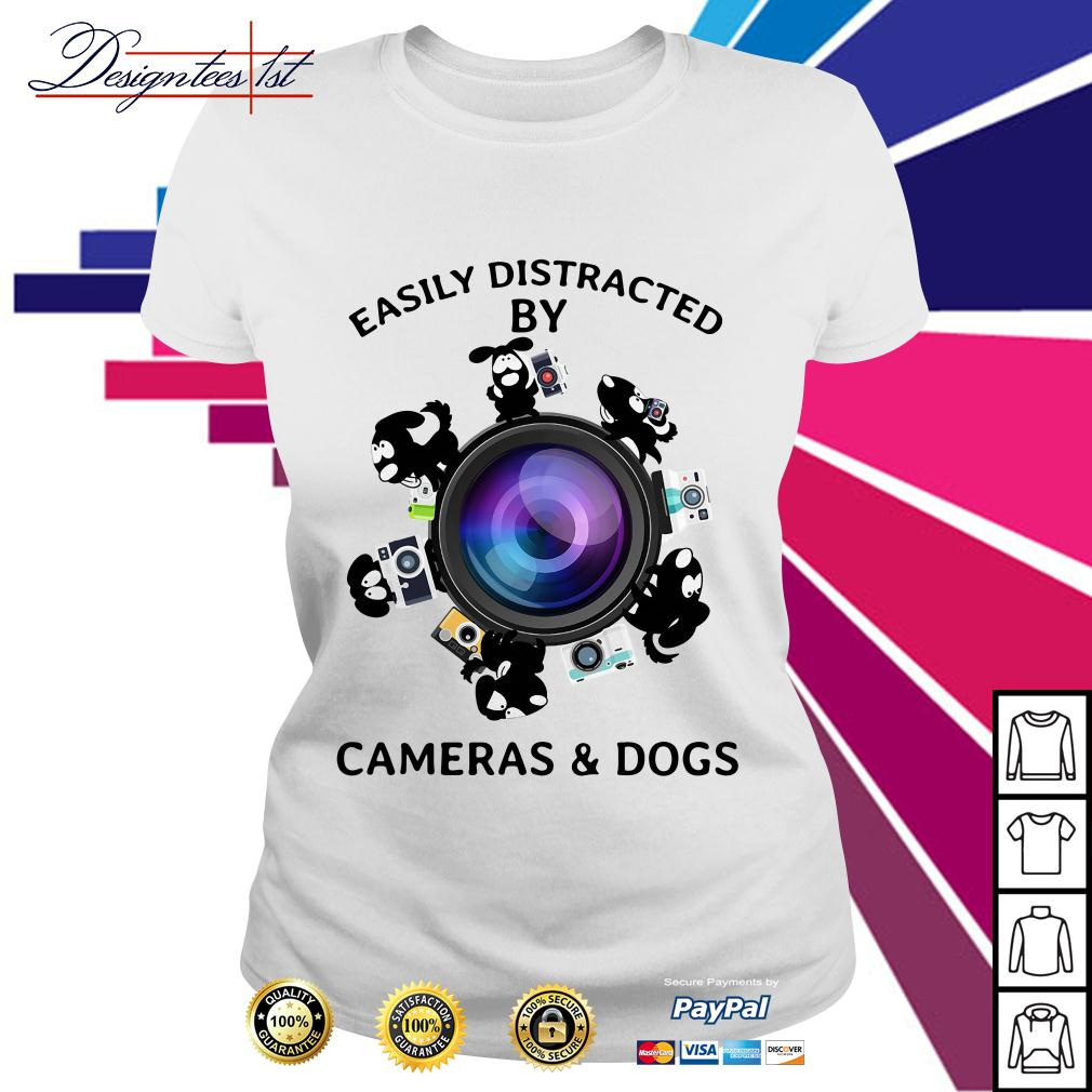 Easily distracted by cameras and dogs Ladies Tee