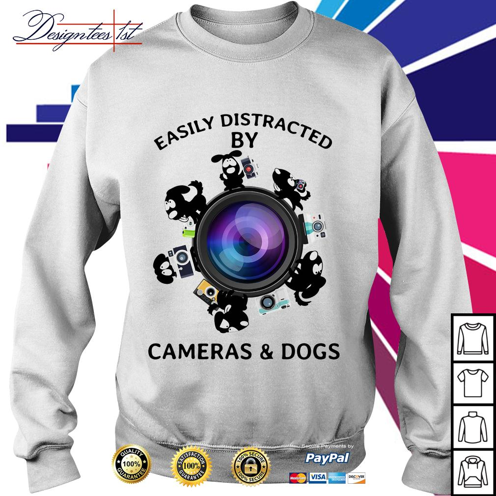 Easily distracted by cameras and dogs Sweater