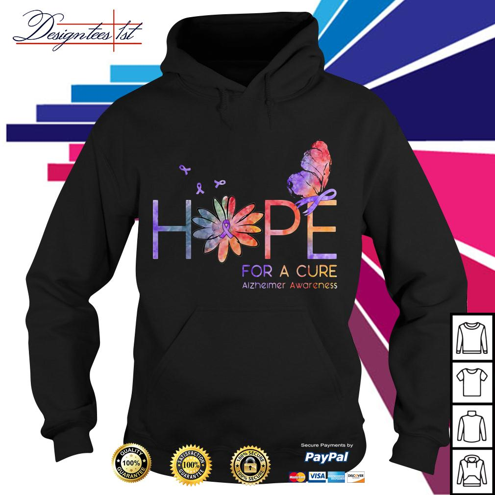 Floral hope for a cure Alzheimer awareness Hoodie