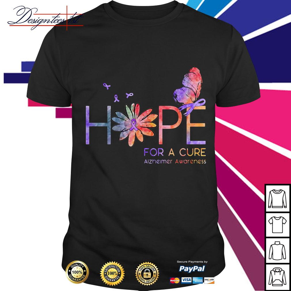 Floral hope for a cure Alzheimer awareness shirt