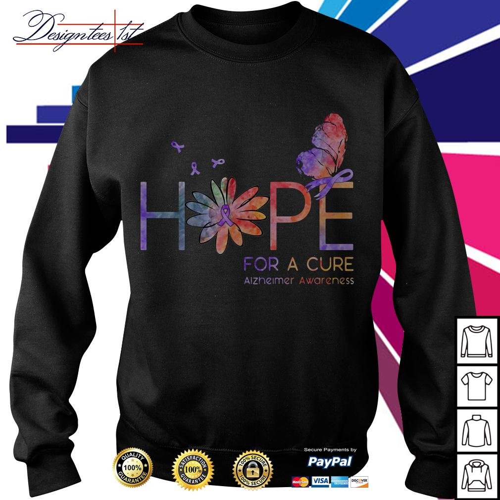 Floral hope for a cure Alzheimer awareness Sweater