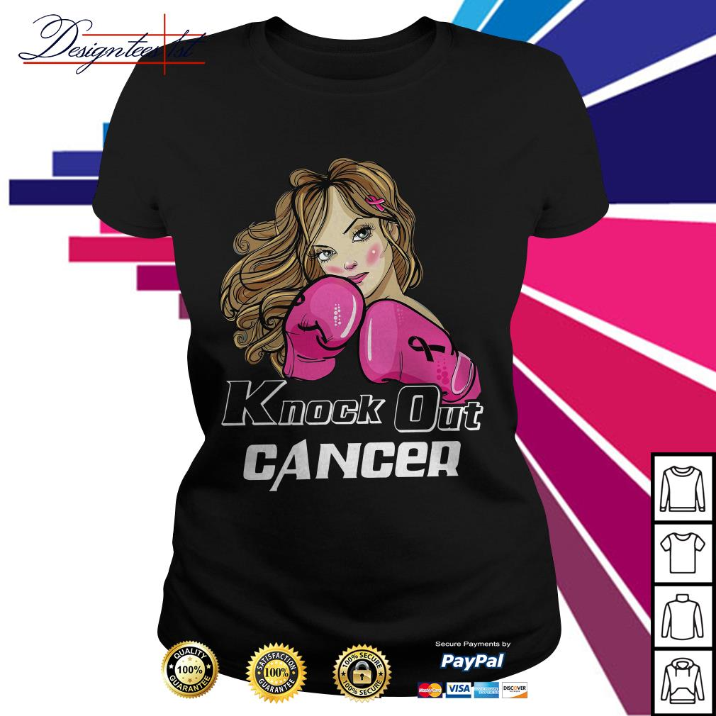 Girl cancer knock out cancer Ladies Tee
