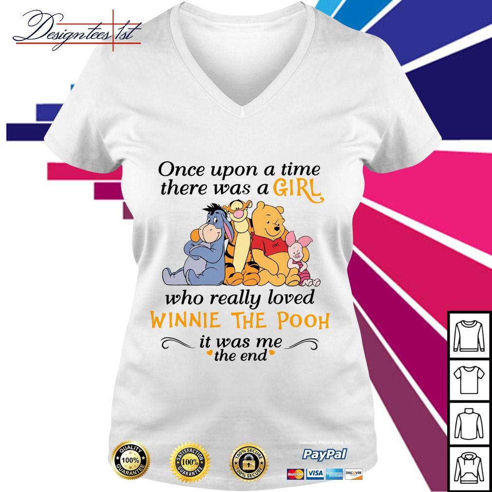 A girl who really loved Winnie the Pooh it was me the end V-neck T-shirt