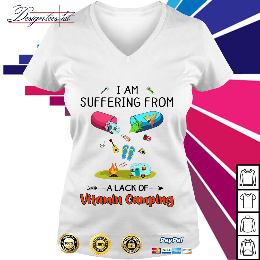 I am suffering from a lack of Vitamin camping V-neck T-shirt