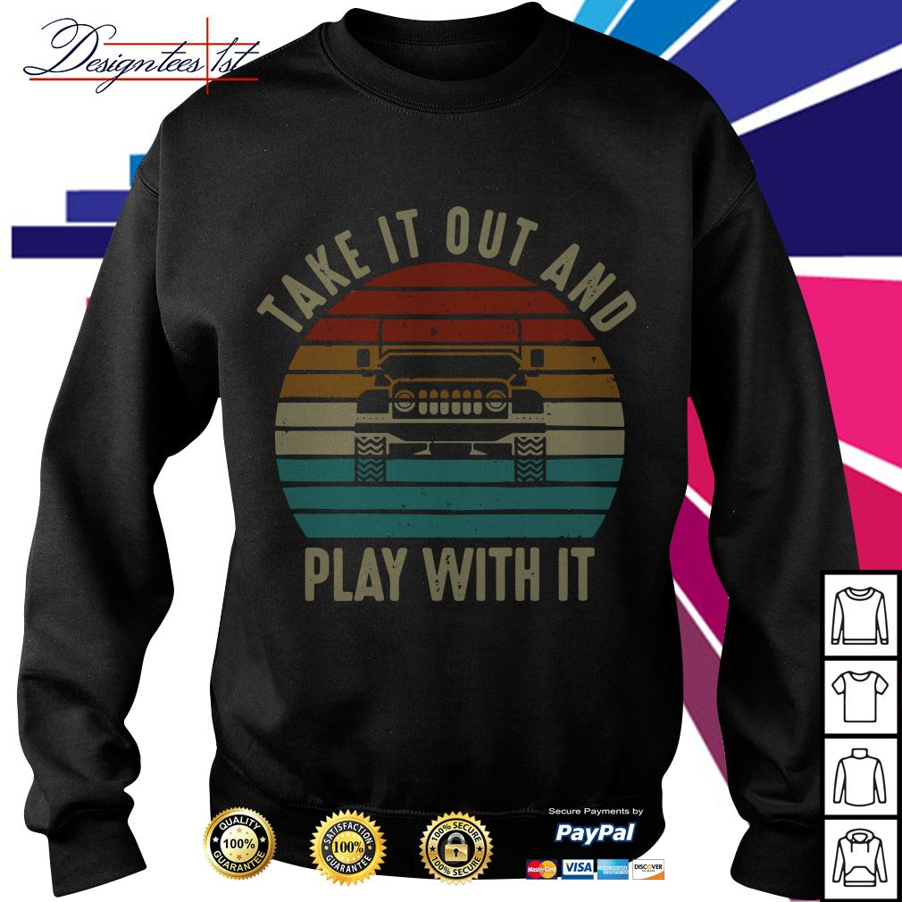 Jeep take it out and play with it vintage Sweater