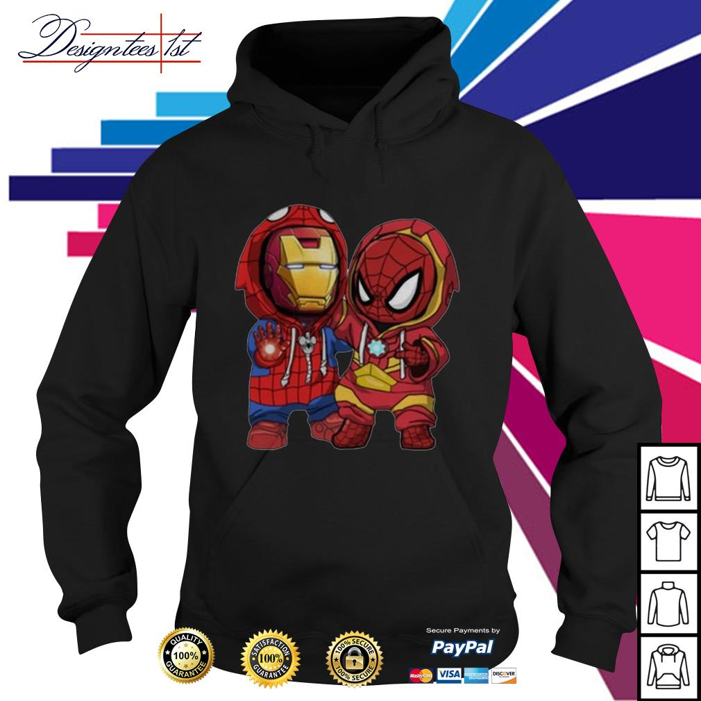 Kids Spider man and Iron man Hoodie